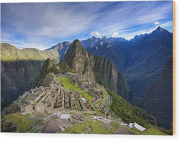 Machu Picchu Wood Print by Alexey Stiop