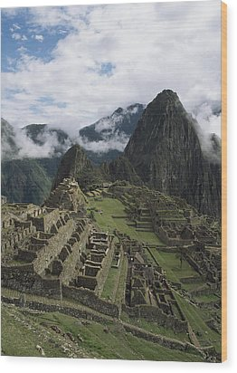 Machu Picchu Wood Print by Chris Caldicott
