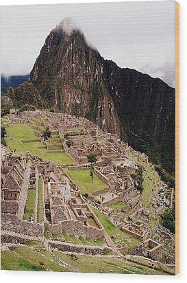 Machu Picchu Wood Print by Ramona Johnston