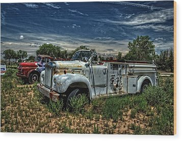 Wood Print featuring the photograph Mack Fire Truck by Ken Smith