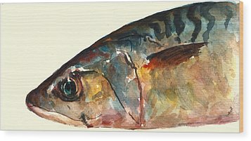 Mackerel Fish Wood Print