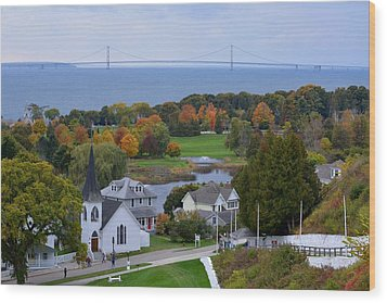 Mackinac Autumn Wood Print