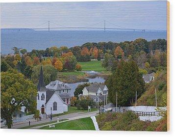 Mackinac Autumn Wood Print