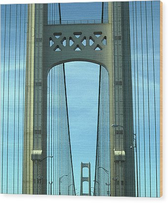 Mackinac Bridge Detail 2 Wood Print