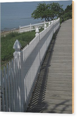 Mackinac Island Boardwalk Wood Print
