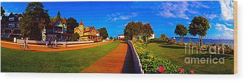Wood Print featuring the photograph Mackinac Island Flower Garden  by Tom Jelen