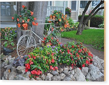 Mackinac Island Garden Wood Print