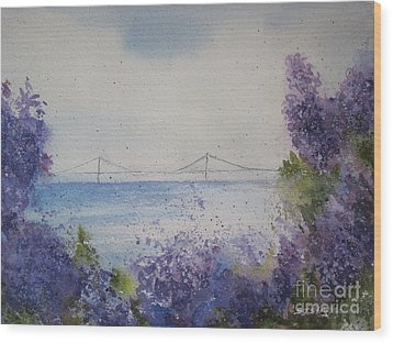 Mackinac Island Lilacs Wood Print