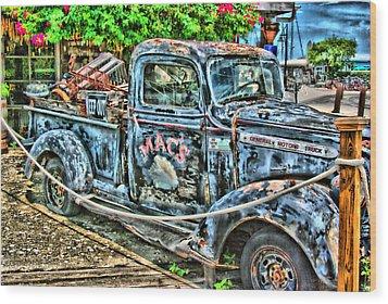 Mac's Truck Wood Print