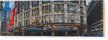 Wood Print featuring the photograph Macy's New York Panoramic by Chris McKenna