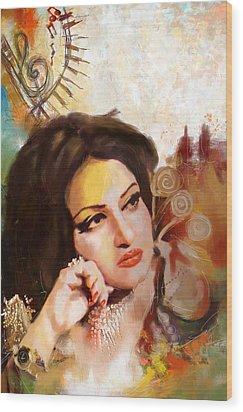 Madam Noor Jehan Wood Print by Catf