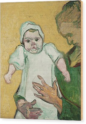 Madame Roulin And Her Baby Wood Print by Vincent Van Gogh