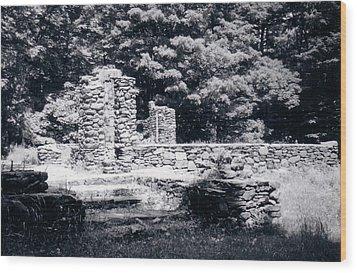 Madame Sherri Castle Ruins Wood Print by David Fiske