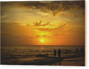 Wood Print featuring the photograph Madeira Sunset by Laurie Perry