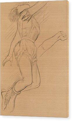 Mademoiselle La La At The Circus Fernando Wood Print by Edgar Degas