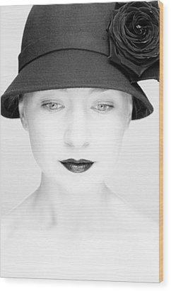 Mademoiselle Wood Print by Silvia Floarea Toth
