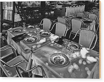 Wood Print featuring the photograph Madera Table For Lunch by Rick Bragan