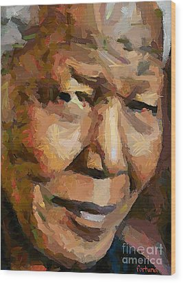 Madiba Wood Print by Dragica  Micki Fortuna