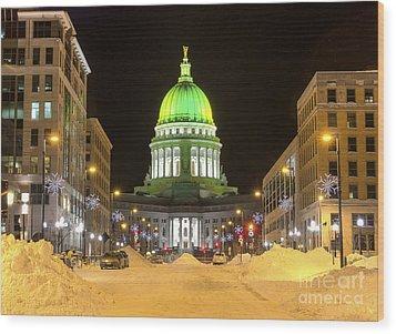 Madison Capitol Wood Print by Steven Ralser