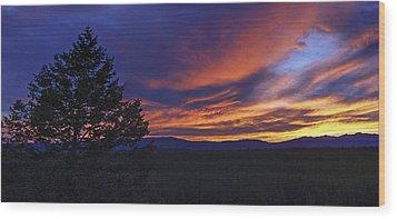 Madison River Sunset Wood Print