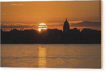 Madison Sunset Wood Print