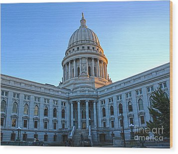 Madison Wisconsin Capitol Building - 02 Wood Print by Gregory Dyer