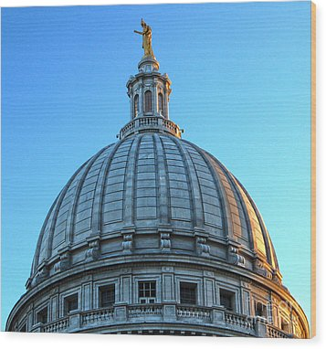 Madison Wisconsin Capitol Building - 03 Wood Print by Gregory Dyer