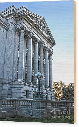 Madison Wisconsin Capitol Building - 05 Wood Print by Gregory Dyer