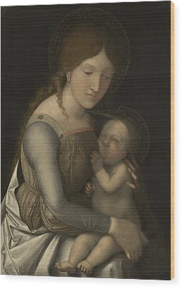 Madonna And Child Wood Print by Andrea Mantegna