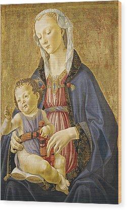 Madonna And Child Wood Print by Domenico Bigordi Domenico Ghirlandaio