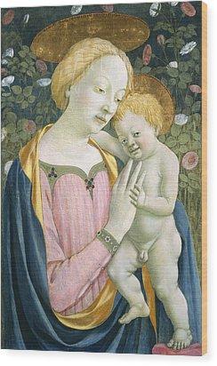 Madonna And Child Wood Print by Domenico Veneziano