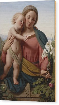 Madonna And Child Wood Print by Franz Ittenbach