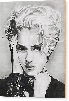 Madonna Wood Print by Fred Larucci