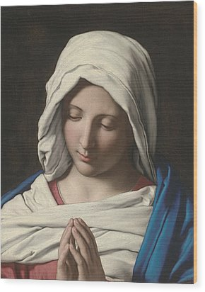 Madonna In Prayer Wood Print