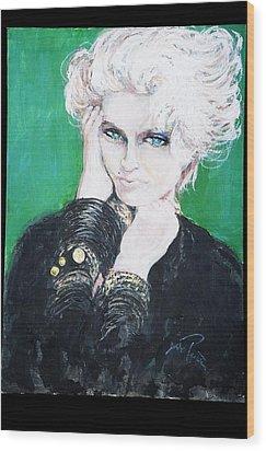 Madonna  Wood Print by Jade Pasteur