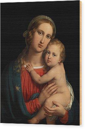 Wood Print featuring the digital art Madonna by Johann Ender