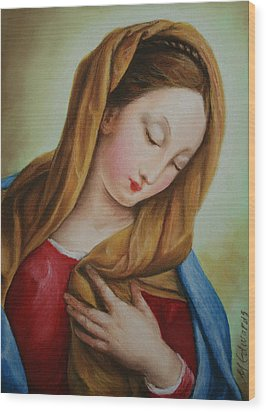 Madonna Wood Print by Marna Edwards Flavell