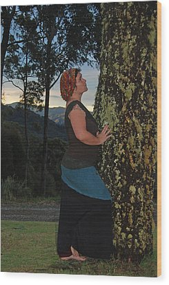 Madonna Of The Tree Wood Print