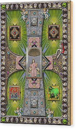 Madonna Of Valladolid Mexico Wood Print by Ron Morecraft