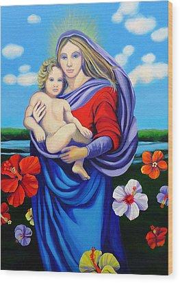Madonna Rafaelina Wood Print by Kyra Belan