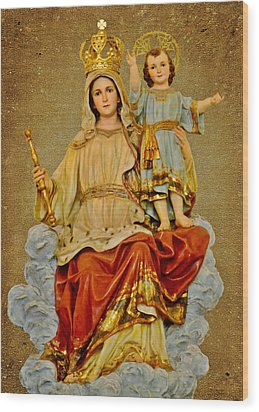Wood Print featuring the photograph Madonna With Child by Christine Till