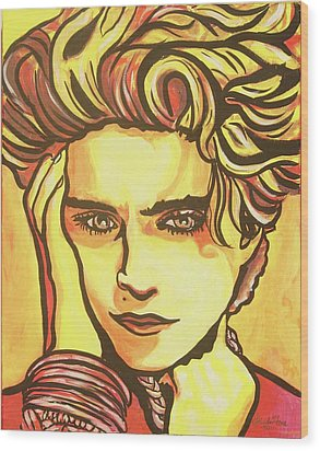 Madonna's Fire Wood Print by Lorinda Fore