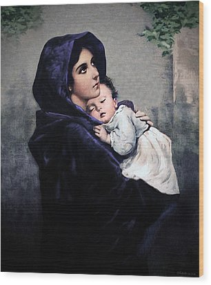 Madonnina Wood Print by A Samuel