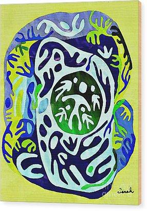 Madre Protectora Wood Print by Sarah Loft