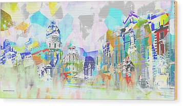 Madrid 1 Wood Print