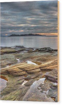 Madrona Sunrise Wood Print by Randy Hall