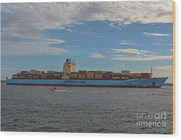 Maersk Line Beaumont Wood Print