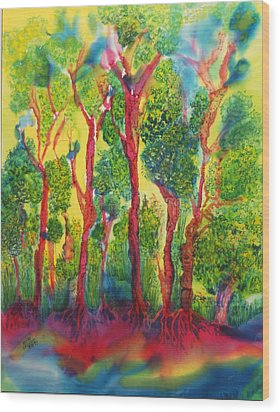 Wood Print featuring the painting Appreciation by Susan D Moody