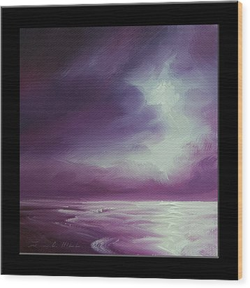 Magenta Moon Iv Wood Print by James Christopher Hill