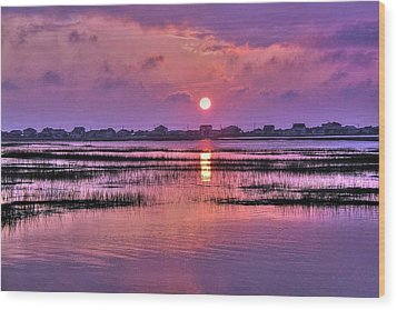 Magenta Sunrise Wood Print